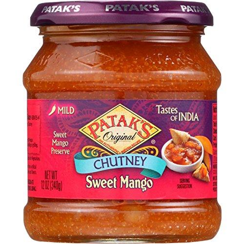 Pataks Chutney - Sweet Mango - Mild - 12 oz - case of 6 - - - - - -