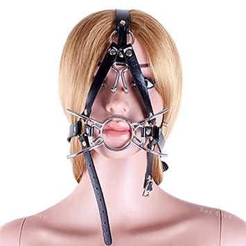Ring gag nose hook bondage