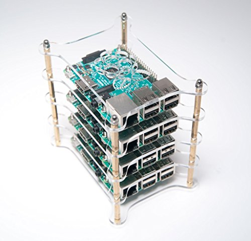 Raspberry Pi 3 - Four (4) Layer Complete Stackable Dog Bone Case - Clear Stack Enclosure - Fits Pi 3 2 3B 2B B+ A+ B A - by Raspberry Vine