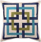 Trina Turk Down-Filled Shanghai Links Pillow, Blue