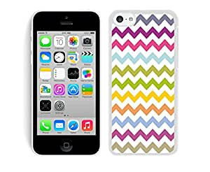 BINGO best quality Multi Grunge Chevron iPhone 5C Case White Cover