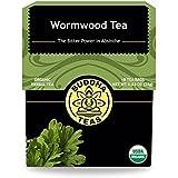 Organic Wormwood Tea - Kosher, Caffeine-Free, GMO-Free - 18 Bleach-Free Tea Bags