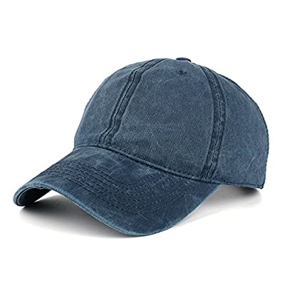 Navy Vintage Washed Dyed Cotton Twill Low Profile Adjustable Baseball Cap Unisex couple cap Fashion Leisure Casual HAT Snapback cap