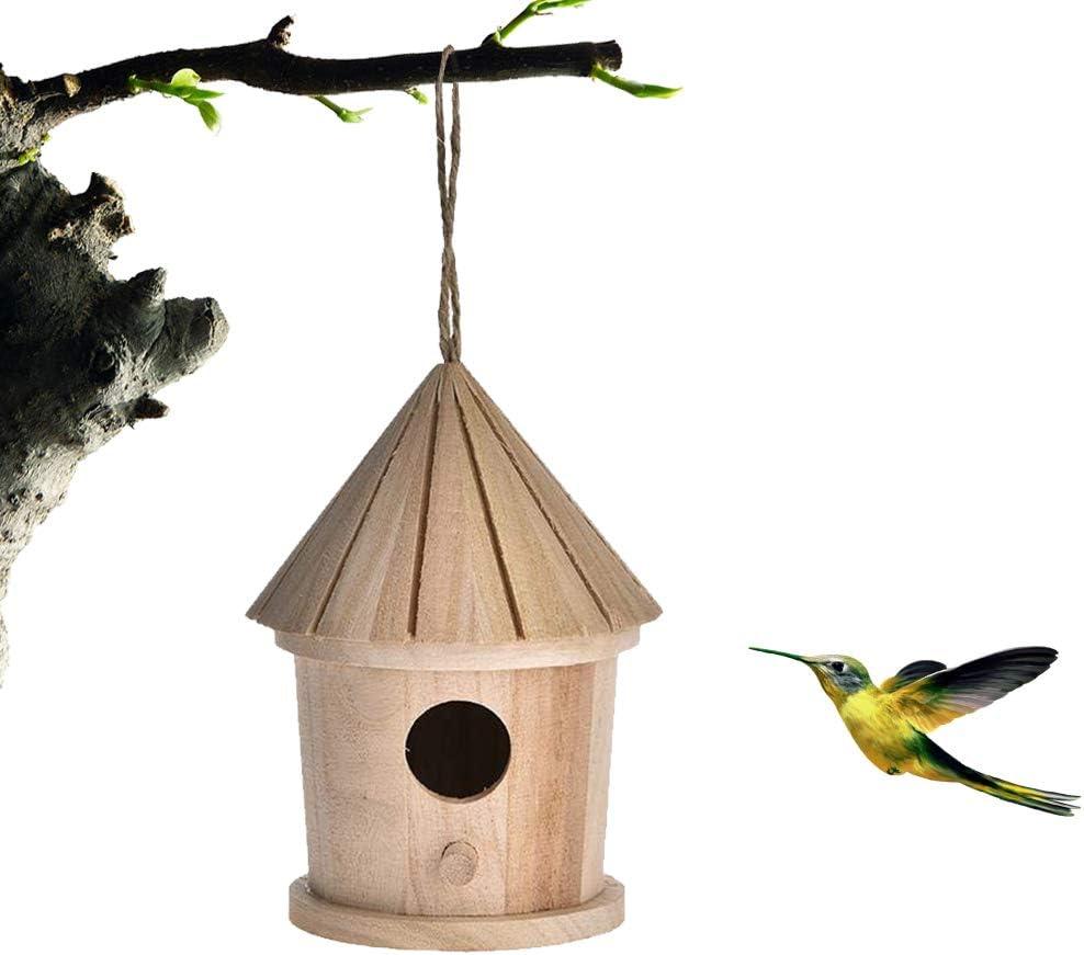 Kylewo Casita de pájaros de Madera, Caja de pájaros de Madera para Caja de Madera para Mascotas