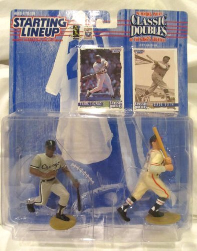 FRANK THOMAS / CHICAGO WHITE SOX & BABE RUTH / NEW YORK YANKEES 1997 MLB Classic Doubles Winning Pairs Series Starting Lineup Action Figures & 2 Exclusive Collector Trading Cards