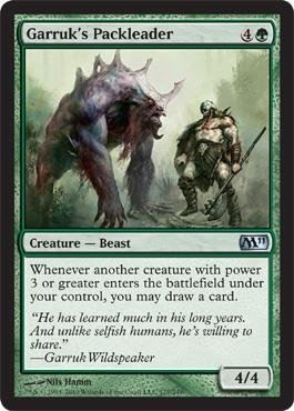 Magic: the Gathering - Garruk's Packleader - Magic 2011