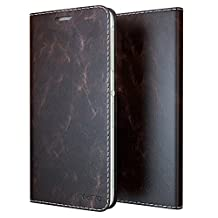Xperia Z3 Case, Cellto [GLux] PU Prime Leather Wallet Case with 9H Tempered Glass Screen Protector Cover for Sony Xperia Z3 - Dark Brown
