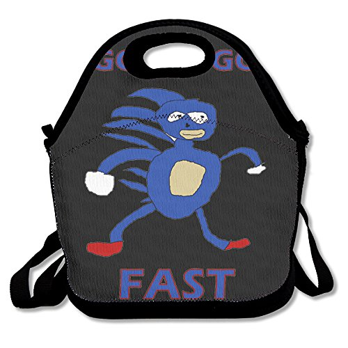 Sanic Gotta Go Fast Sonic The Hedgehog Casual Lightweight College Backpack Laptop Bag School Travel (2)