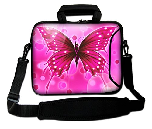 Pro Macbook Notebook Bag For Shoulder Unibody Case Ibook Handle Design And Strap Retina Macbook Air Sleeve Laptop Aluminum Apple Pro Butterfly Powerbook Pink Soft With Big Tqn5OX