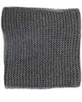 Aqua Women's Wool Blend Bulky Circle Scarf Grey