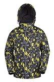 Mountain Warehouse Shadow Mens Printed Ski Jacket - Fleece Lined Winter Snow Jacket Yellow Small