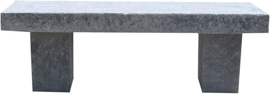 ARTISTICA GRANILLO Banco de hormigón con inerti de Piedra volcánica 130x 42H43cm.