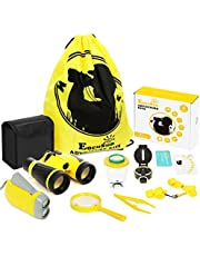 EocuSun Outdoor Exploration Kit - Educational Toys for 3-12 Years Old Boys Girls - Kids Adventure Explorer Set - Binoculars, Flashlight, Compass, Magnifying Glass, Best Gifts for Birthday, Camping
