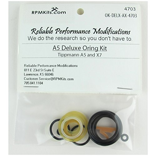 RPM Deluxe Tippmann A5 Oring Kit for A5 and X7 - Most Commonly Needed OEM O-Rings by Reliable Performance Modifications