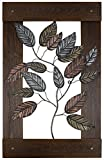 HobbitHoleCo 24-Inch by 39.25-Inch Mixed Media Metal Art Décor, Sam O., Metal Leaves