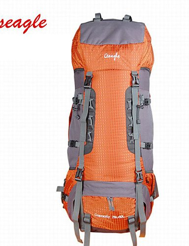 Ling@ Tourenrucksäcke/Rucksackabdeckungen ( Hellgrün/Orange , 85 L) Wasserdicht/Regendicht/tragbar/Multifunktions Camping & Wandern/Klettern