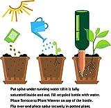Terracotta Plant Waterer 4 Count Wine Bottle Stake Set