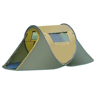 Aur-Green Imperméable 3-4 personne Forme du bateau Outdoor Camping Tente familiale Automatic Pop Up Tente 1 Deuxième vitesse pêche à la plage ouverte Tentes touristique Taille 250 x 200 x 120 CM