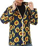 TUONROAD Girls Fleece Jackets Sun Flowers Printed
