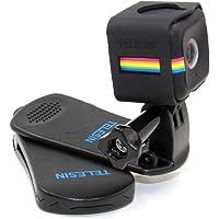 TELESIN 360 grados de giro montaje Clip de mochila con marco y adaptador para Polaroid bolsa y cubo+