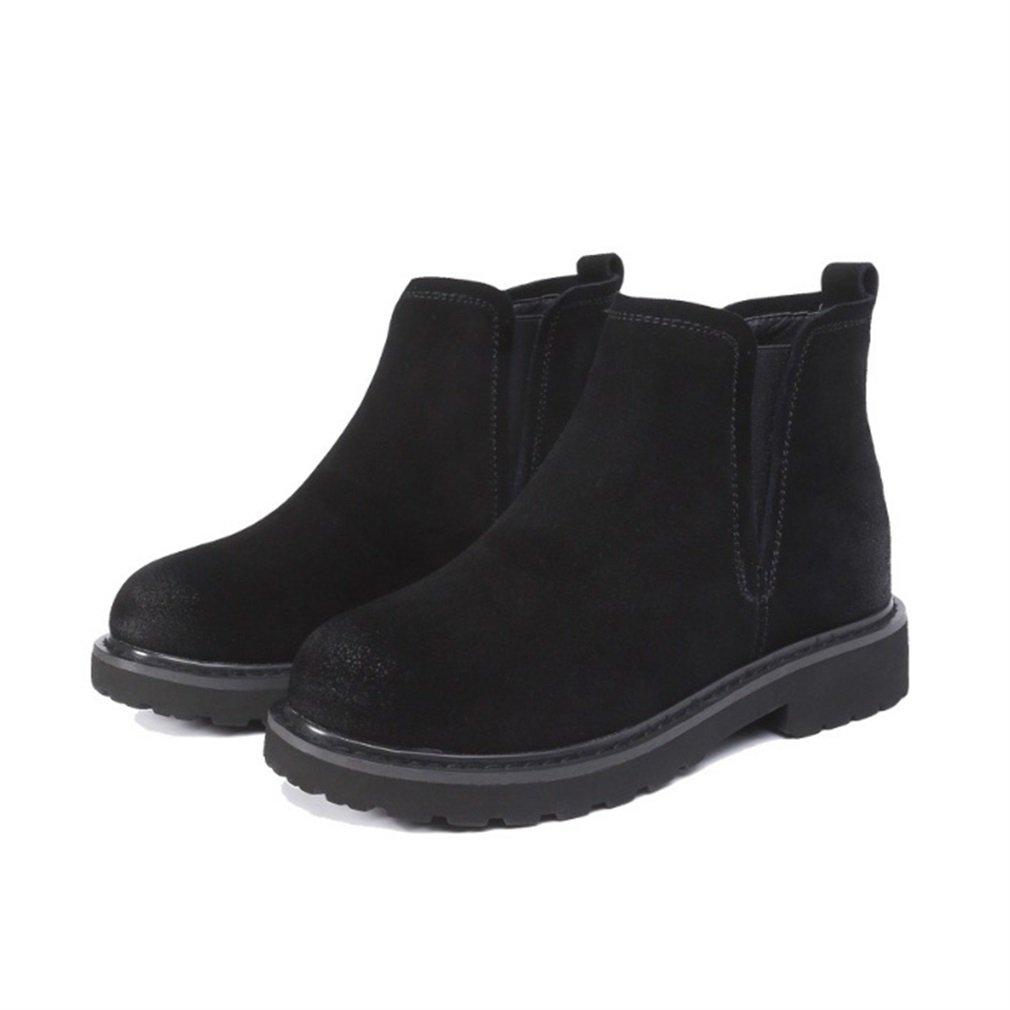 Xianshu Retro round toe Cour bottes Martin chaussures Xianshu respirantes round Cour Noir 64c6e7f - latesttechnology.space