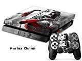 CAN Ps4 Console Designer Protective Vinyl Skin Decal Cover for Sony Playstation 4 & Remote Dualshock 4 Wireless Controller Stickers - Harley Quinn