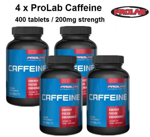 4 x ProLab caféine 100ct / / 400 comprimés au total