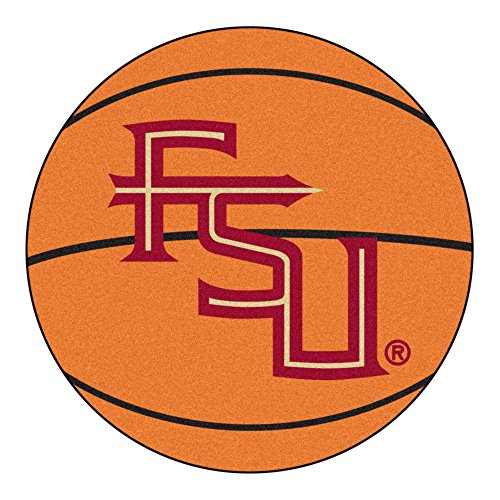 NCAA Florida State University Seminoles Basketball Shaped Mat Area Rug ()