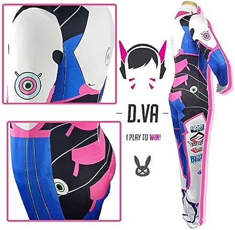 Shihong-G Costume DVA Hana Song Halloween femmes Cosplay Jumpsuit Costume pour femmes et enfants
