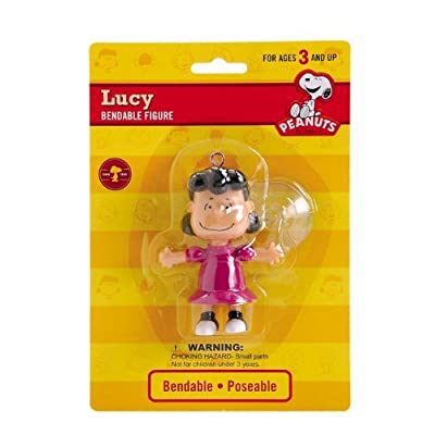 Peanuts - Lucy Van Pelt Bendable Figure with Suction Cup: Toys & Games