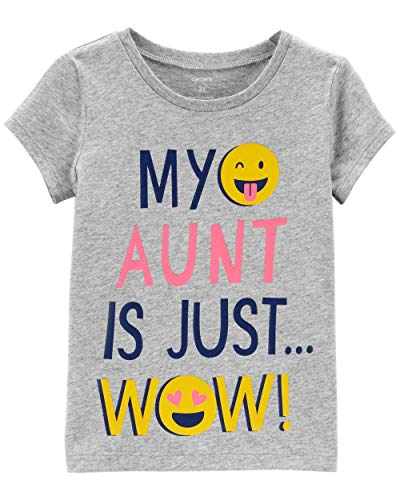 Carter's Toddler Girl's My Aunt is Just Wow Tee (5T Toddler) Heather Grey