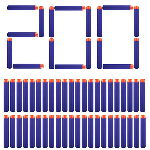 Price comparison product image Trooer 200 Pcs Foam Darts Round Head Darts Bulk for Kids Toy Guns(Blue)