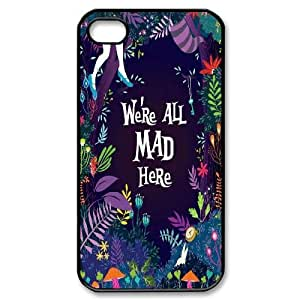 DDOUGS I We are all mad here Brand New Cell Phone Case for Iphone 4,4S, DIY I We are all mad here Case