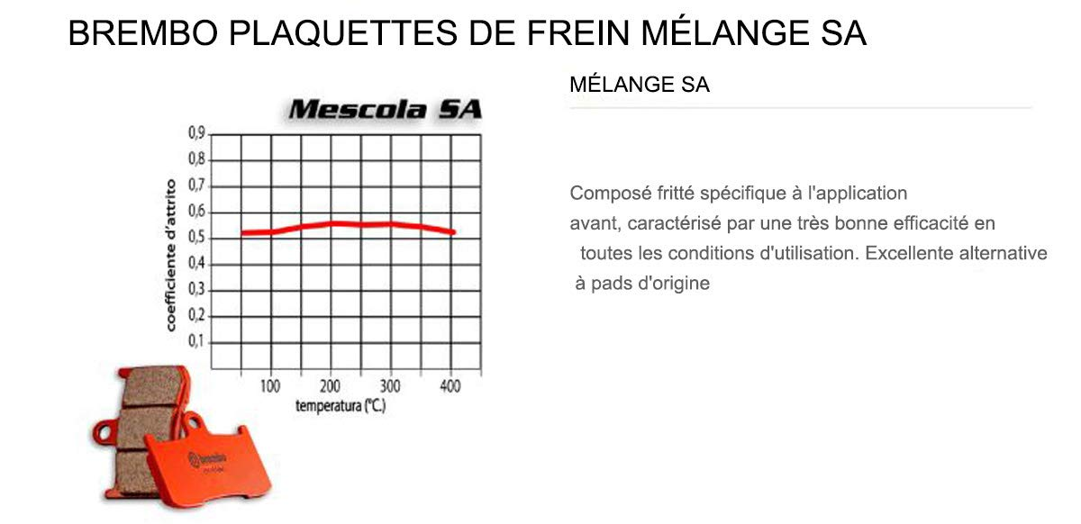 07GR62.SA Pastillas Brembo Freno Delantero SA para K 1600 GTL 1600 2011  2013