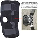 Therapist's Choice® Universal Adjustable ROM Hinged Knee Brace, Medical Grade with FDA device listing