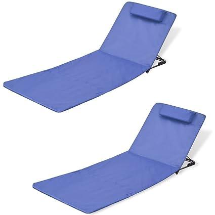 Incredible Amazon Com Canditree Outdoor Beach Mat With Back Rest Inzonedesignstudio Interior Chair Design Inzonedesignstudiocom