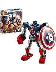LEGO 76168 Super Heroes Captain America i robotrustning, Marvel Superhjälte Byggsats för Barn 8+ år