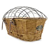 Rear Mount Willow Bicycle Basket with Safety Cage - Hand Crafted By Beach and Dog Co (Myrtle Beach)
