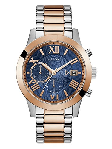 GUESS Men's Stainless Steel Two-Tone Casual Watch, Color: Rose Gold/Silver (Model: U0668G6) by GUESS (Image #1)
