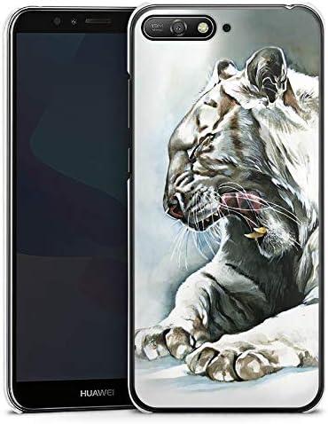 DeinDesign Huawei Y6 2018 Coque Étui Housse Tigre Blanc: Amazon.fr ...