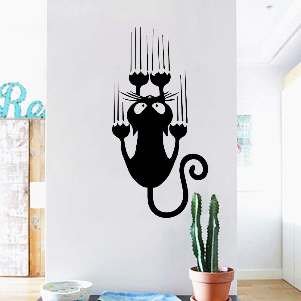 Pegatina gato arañando habitaciones, escaleras, mamparas, pasillos ...