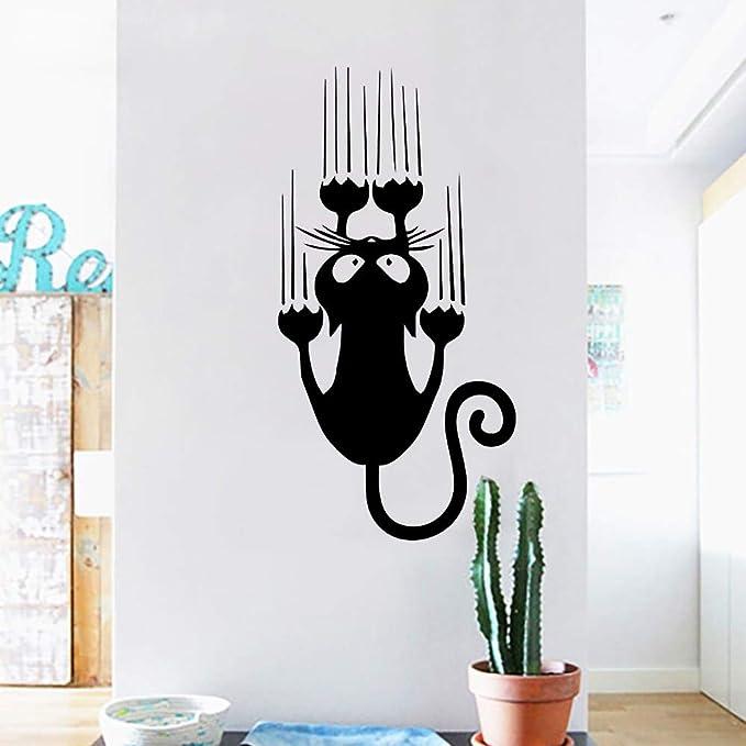 Pegatina gato arañando habitaciones, escaleras, mamparas, pasillos pared/cristal 85 x 45 cm de CHIPYHOME: Amazon.es: Bricolaje y herramientas