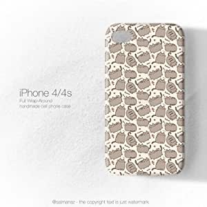 Pusheen The Cat Meow Cute Cats iphone 4 Case Cover