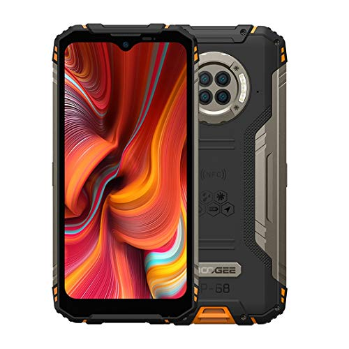 India Gadgets – S96 Pro Rugged Waterproof Android Mobile Phone: 8Gb + 128Gb: 6.22″ HD+ Display: 48MP Camera + 20MP Night Vision Camera: Large 6350mAh Battery (Fire Orange)