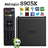 2017 Model Globmall Android 6.0 TV box, T95X Android TV Box Amlogic S905X 64 Bits and True 4K Playing