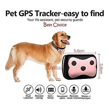 D69 GPS+LBS Monitor rastreador de mascotas GSM dispositivo de seguimiento con collar para perro