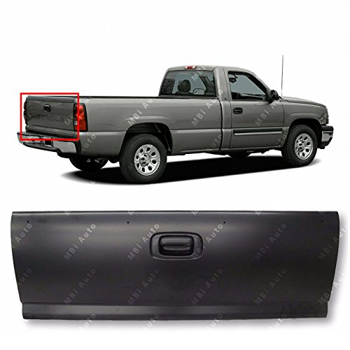 MBI AUTO - Primered, Steel Tailgate W/Assembly for 1999 2000 2001 2002 2003 2004 2005 2006 Chevy Silverado & GMC Sierra Pickup 99-06, GM1900124