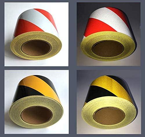 Red-White PerfecTech Reflective Tape 2 x 150 Traffic Reflective Safety Warning Tape Stickers Stripe Waterproof