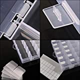 Outuxed 2pack 36 Grids Clear Plastic Organizer Box