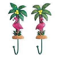 Accent Plus Wall Coat Hooks, Pink Flamingo Kitchen Decorative Coat Hooks Wall Mounted